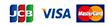 JCB VISA MasterCard
