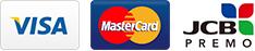クレジットカード払いは、VISA、MASTER、JCBがご利用頂けます